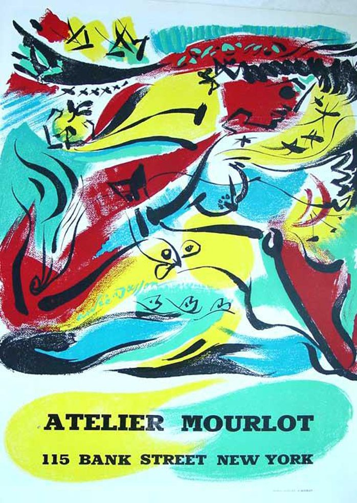Lithographie Masson - '' Exposition chez Mourlot NYC ''