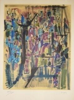 Lithographie Bryen - Exposition CNAC 1971