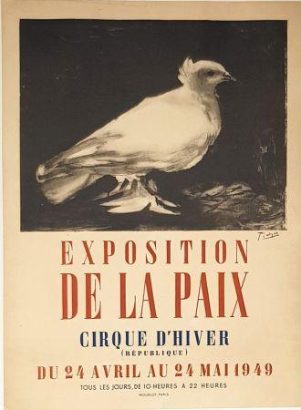 Lithographie Picasso - Exposition de la Paix