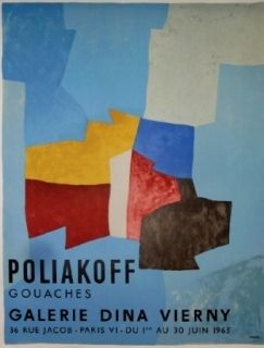 Affiche Poliakoff - Exposition Dina Virny
