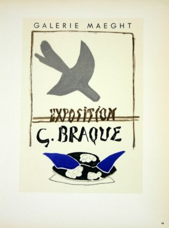 Lithographie Braque - Exposition G Braque