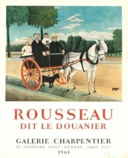 Lithographie Rousseau - Exposition galerie charpentier