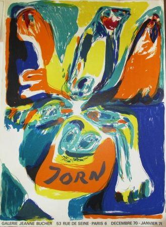 Affiche Jorn - Exposition Galerie Jeanne Bucher 70-71