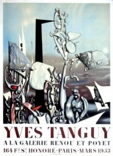 Affiche Tanguy - Exposition Galerie Renou et Poyet