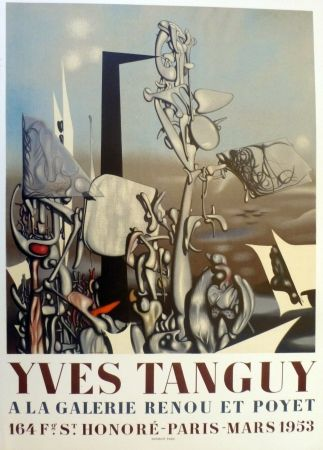 Lithographie Tanguy - Exposition galerie Renou et Poyet 1953