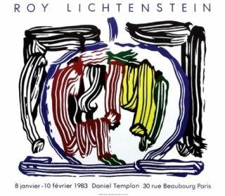 Affiche Lichtenstein - Exposition galerie Templon