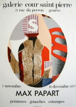 Lithographie Papart - Exposition genvève 1976