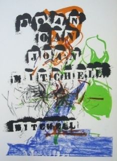 Lithographie Mitchell - Exposition Jean Fournier