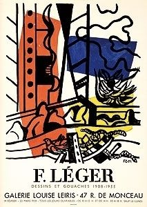 Lithographie Leger - Exposition Louise Leiris 1958