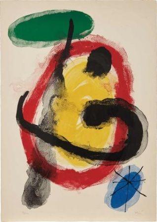 Lithographie Miró - Exposition Peintures Murales (Mourlot 227)