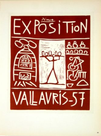 Lithographie Picasso (After) - Exposition Vallauris 1957
