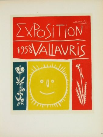 Lithographie Picasso (After) - Exposition  Vallauris 1958