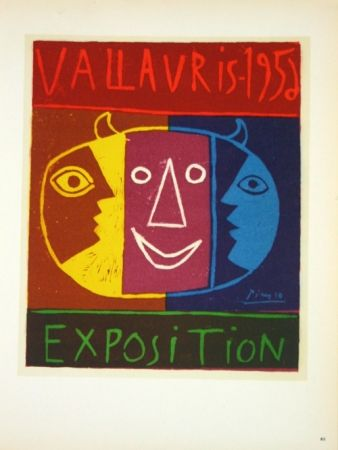 Lithographie Picasso - Exposition Vallauris 1958
