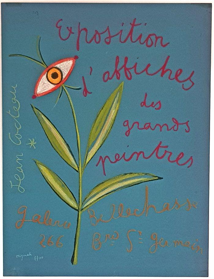 Lithographie Cocteau - Expositions D'affiches des Grands Peintre
