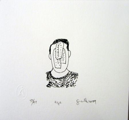 Sérigraphie Gronk - Eye
