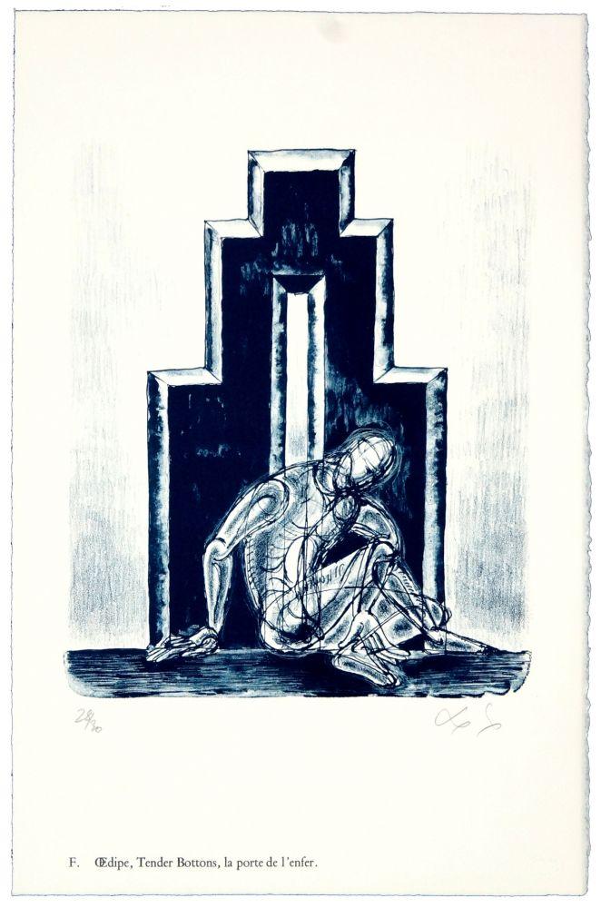 Lithographie Nørgaard - F. Œdipe, Tender Bottoms, la porte de l'enfer.