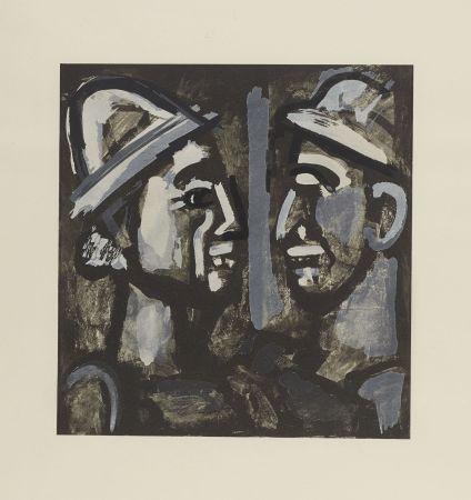 Lithographie Rouault - FACE A FACE, 1933