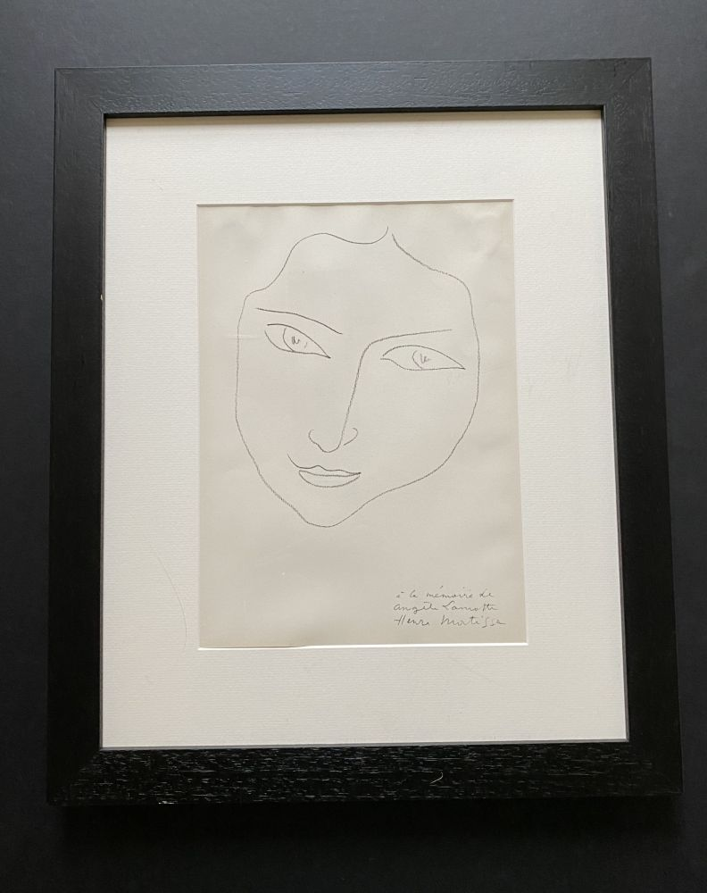 Lithographie Matisse - Facing Woman
