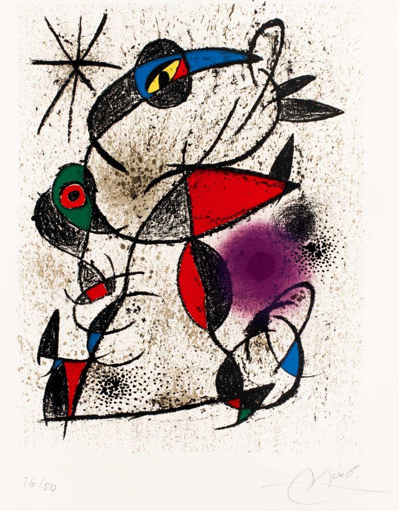 Lithographie Miró -  Faillie du calcaire