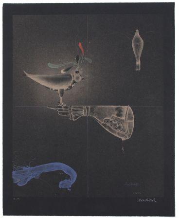 Lithographie Wunderlich - Falkenhandschuh / Falconer's Glove