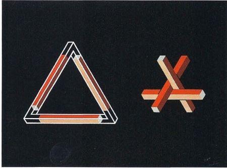Lithographie Molins - Falsaciones del triangulo de Penrose 10