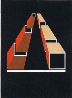Lithographie Molins - Falsaciones del triangulo de Penrose 14