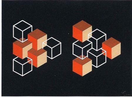 Lithographie Molins - Falsaciones del triangulo de Penrose 5