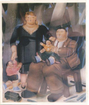Lithographie Botero - Familia