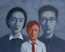 Lithographie Xiaogang - Familly