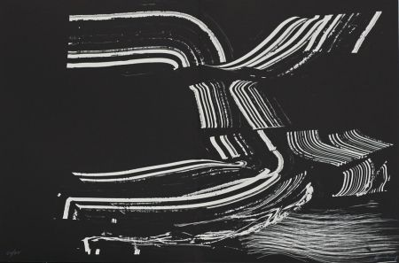 Lithographie Hartung - Farandole XIV