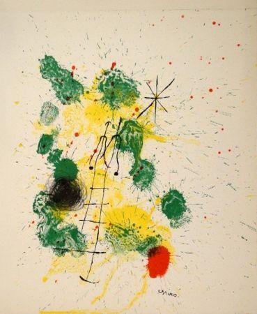 """Lithographie Miró - Farblithographie für """"Kronenhalle 1862-1922-1962"""""""