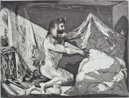 Eau-Forte Et Aquatinte Picasso - Faune dévoilant une femme