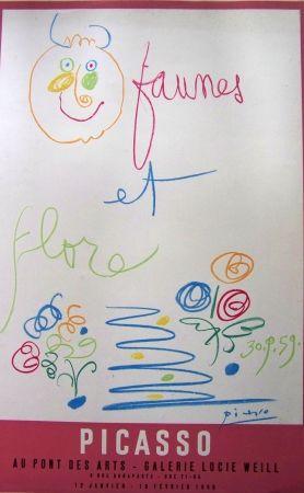 Lithographie Picasso - Faunes et flore