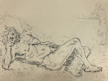Gravure De Chirico - Fauno addormentato