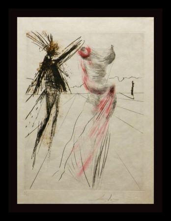 Gravure Dali - Faust Buste