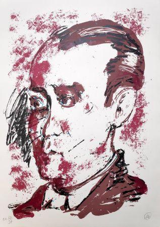 Sérigraphie Lüpertz - Federico Garcia Lorca
