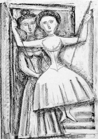 Lithographie Campigli - Fedra I