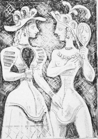 Lithographie Campigli - Fedra II