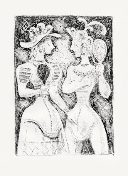 Lithographie Campigli - Fedra II (Theseus)