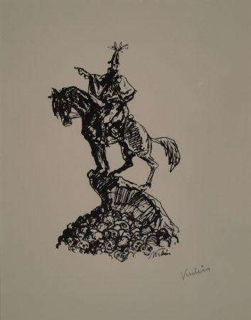 Lithographie Kubin - Feldherr