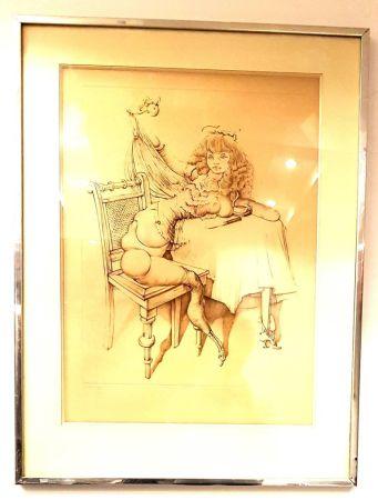 Gravure Bellmer - Femme