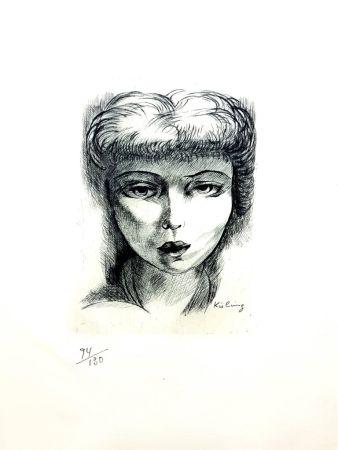 Lithographie Kisling - Femme