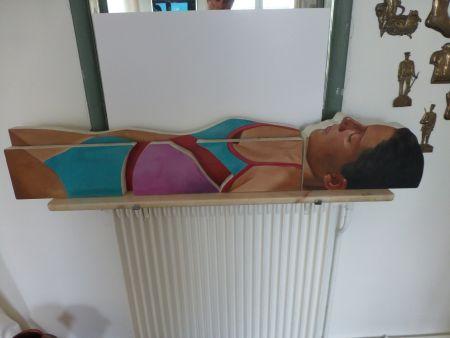 Aucune Technique Maddox - Femme allongée en maillot une pièce
