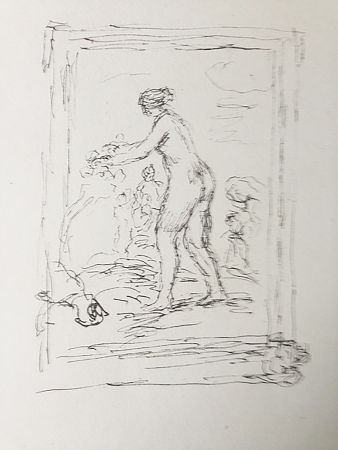 Lithographie Renoir - Femme au cep de vigne