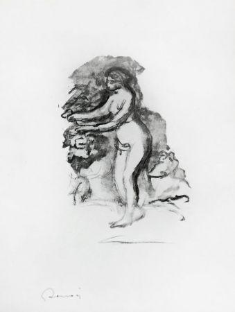 Lithographie Renoir - Femme au cep de vigne (Woman by the Grapevine)