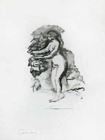 Lithographie Renoir - 	Femme au cep de vigne (Woman by the Grapevine)