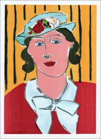Lithographie Matisse - Femme au chapeau