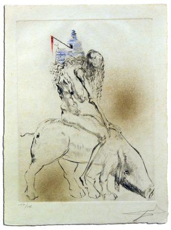 Gravure Dali - Femme Au Cochon, from Faust