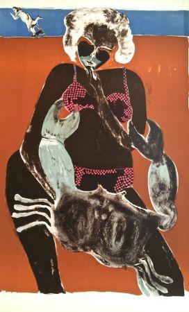 Lithographie Toledo - Femme au crabe
