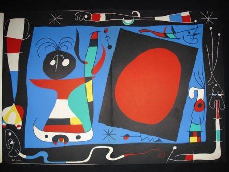 Lithographie Miró - Femme au Miroir